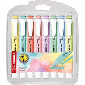 Набор маркеров текстовыделителей 8цв stabilo swing cool pastel, блистер 27