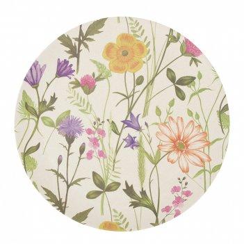 Блюдо сервировочное луговые цветы d=25,5см. h=0,5см. (бамбуков