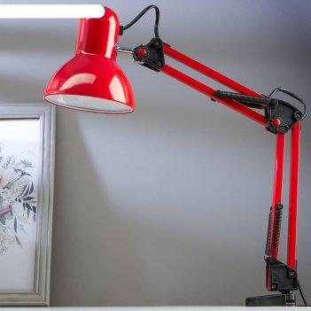 Настольная лампа на прищепке, 55 см, красная