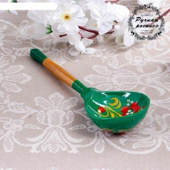 Ложка столовая зеленушка, хохлома