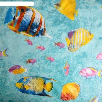 Штора для ванной 180x180 см морской риф, eva