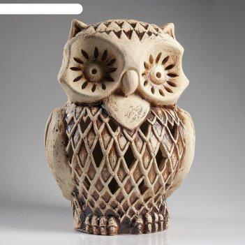 Садовый светильник сова филя шамот
