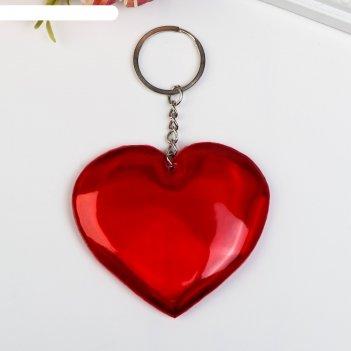 Брелок кожзам, ткань сердце микс 7,5х7,5 см