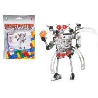 Конструктор металлический робот, 142 детали