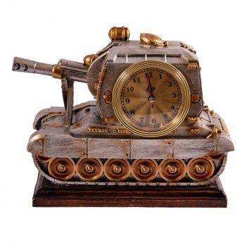 Часы-термометр танк настольные (уп.1/12шт.)