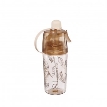 Бутылка для воды by akhmadullina, с распылителем, 400 мл