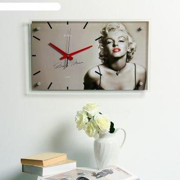 Часы настенные, серия: люди, мэрилин монро, 60х36  см, микс