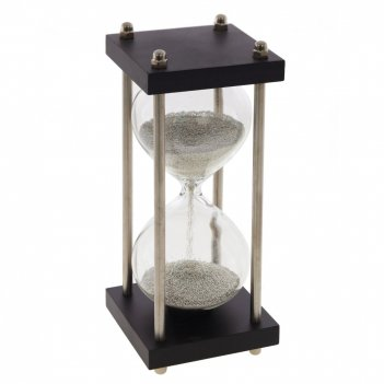 Часы песочные (50 сек), l7 w7 h20 см