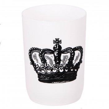 Аксессуары для ванной комнаты стакан корона, пластик