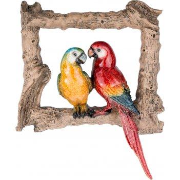 Панно настенное попугаи 27*7*31,2см (кор=6шт.)