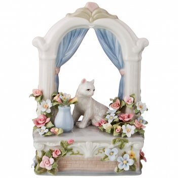 Статуэтка кошка на окне 12*6.5*14.5 см (кор=18шт.)