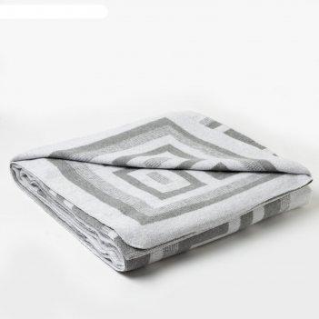 Одеяло хлопковое «греция» 170х210 см, цвет светло-серый