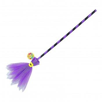 Карнавальный аксессуар метла, цвет фиолетовый