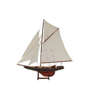 Коллекционная модель яхты columbia lux l 69 см h 81 см