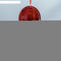 Ночник воздушный шар красный от бат в компл 13х13х19 см