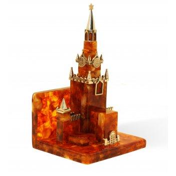 Сувенир-визитница кремль из янтаря