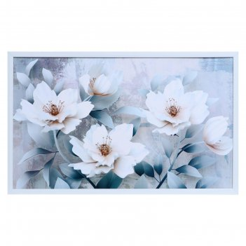 Картина нежные цветы 60х100(65х105) см