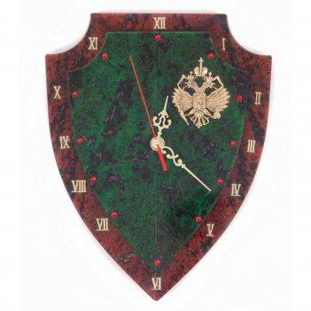 Настенные часы щит бронза змеевик
