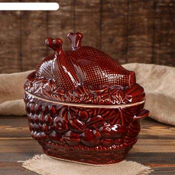 Горшок духовой курица пикник 3 л