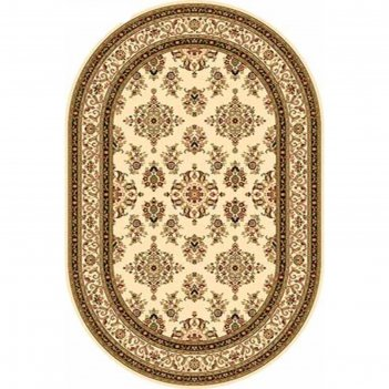 Овальный ковёр olympos d064, 400 х 500 см, цвет cream
