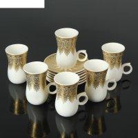 Сервиз кофейный ванесса, 12 предметов: 6 чашек 90 мл, 6 блюдец 10,5 см