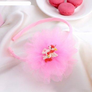 Ободок для волос единорог 1 см розовый