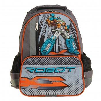 Рюкзак школьный с эргономической спинкой luris степашка 37x26x13 см для ма