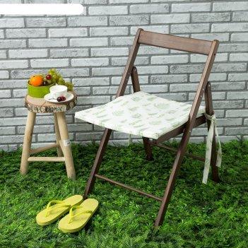 Подушка на стул уличная «этель» листья 45x45 см, репс с пропиткой вмго, 10