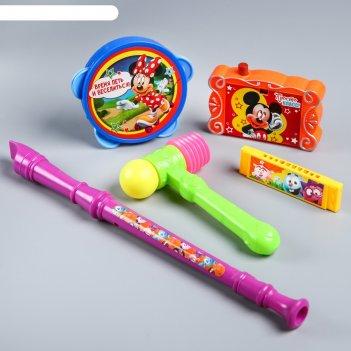 Набор музыкальных инструментов, цвета микс, 5 предметов