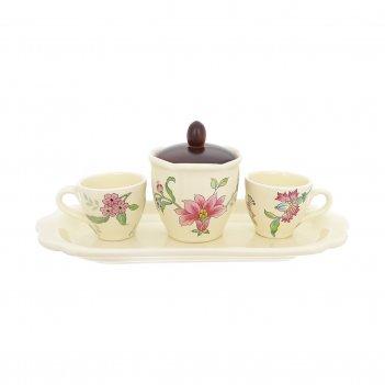 Кофейный набор на подносе nuova cer прованс 5 предметов