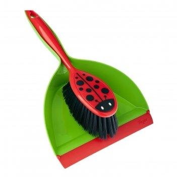 Набор для уборки совок + щетка ladybug