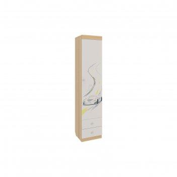 Шкаф комбинированный форсаж, 400x410x1890, дуб сонома/белый