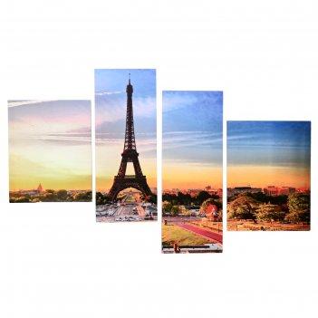 Модульная картина на подрамнике утро в париже, 40x50, 42x55, 30x80, 30x75,