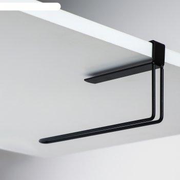 Подставка под бумажные полотенца подвесная лофт  20,6х2х10,1 см, цвет черн