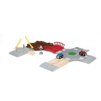 Brio игр.наб. с автодорогой, мостом и переездом (14 элементов) 59,5х43,3 с