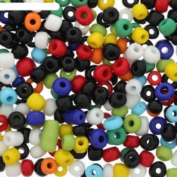 Бисер ассорти цветное 6 мм 20 гр
