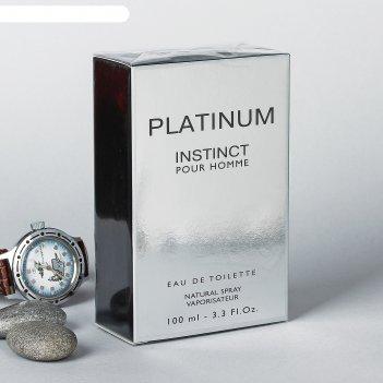 Туалетная вода мужская instinct platinum, 100 мл