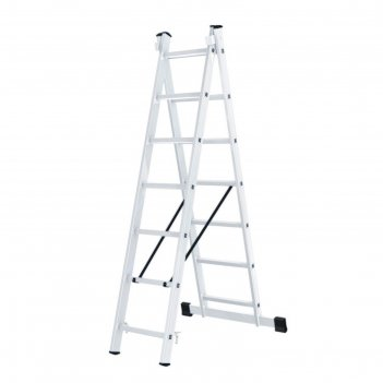 Лестница вихрь ла 2х7, алюминиевая, двухсекционная, рабочая высота 4.43 м
