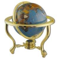 Глобус настольный каменный голубое небо