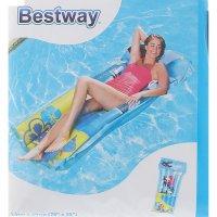 Матрас надувной для плавания лагуна 191х89 см (44036) микс