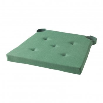 Подушка на стул юстина, размер 40х42 см, цвет зелёный