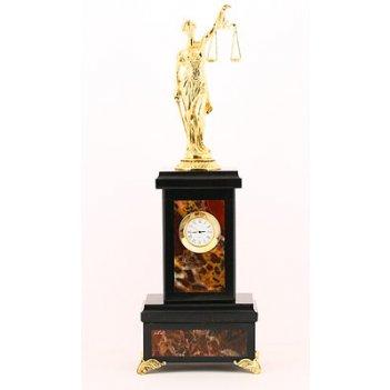 Часы фемида статуэтка бронзовое литье арт.3082