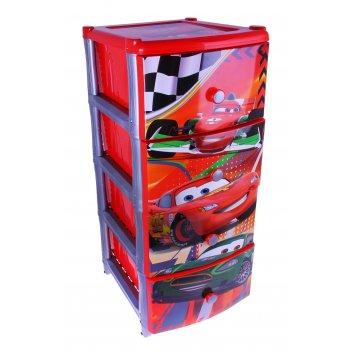 Комод для игрушек дисней на колесиках, 4 выдвижных ящика