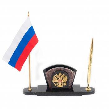 Мини-набор с флагом и гербом россии креноид змеевик