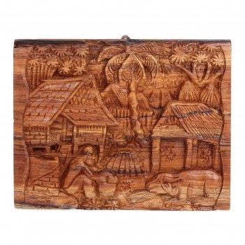 Панно тайская деревня
