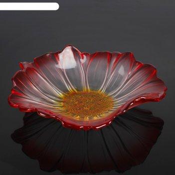 Салатник 280 мм красный цветок