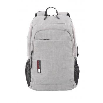Рюкзак swissgear 15,6, светло-серый, ткань heather, 31 x 16 x 45 см, 22 л