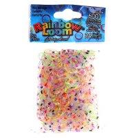 Резиночки для плетения конфетти, набор 600 шт., крепления, 24 шт.