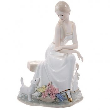Фигурка декоративная девушка, l18 w13 h26 см