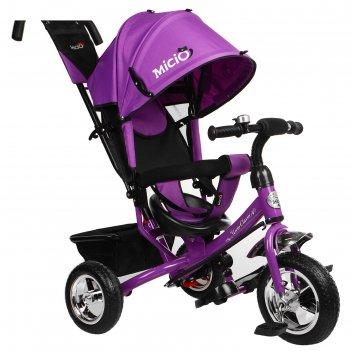 Велосипед трёхколёсный micio classic 2019, колёса eva 10/8, цвет фиолетовы